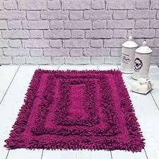 tappeti da bagno da bagno ricciolone ciclamino 50x80cm