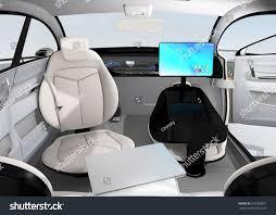 autonomous car interior design concept new stock illustration