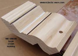 How To Cut Crown Moulding For Kitchen Cabinets Veneer Plywood U0026 Crown Cabinet Molding Eclectic Ware