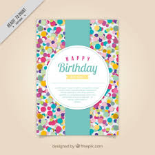 cing birthday party colored confetti birthday card vector free