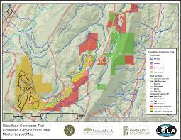 Georgia State Parks Map by Cloudland Connector Trail Overview Lula Lake Land Trust