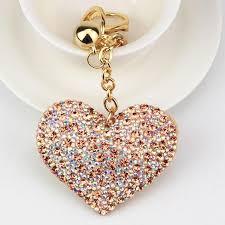 cute key rings images Cute heart keychain full rhinestone crystal keyring car key chain jpg