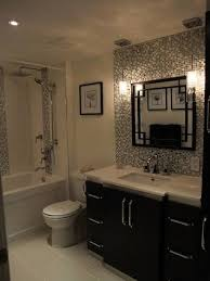 tile backsplash ideas bathroom tile backsplash behind vanity mirror and hanging pendant lights