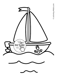 boat transportation coloring pages for kids printable sailing