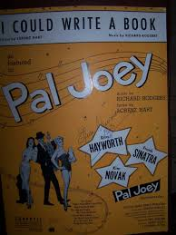 i could write a book sheet music and lyrics from pal joey richard