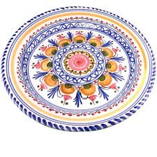 traditional design hand painted dinner plate 11 inch