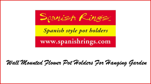 Wall Mounted Flower Pot Holder Spanish Rings Wall Mounted Flower Pot Holders To Create A Hanging