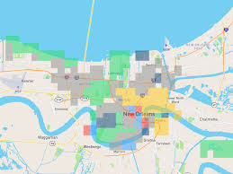 Tourist Map Of New Orleans by This Crowdsourced Map Attempts To Define New Orleans Neighborhoods