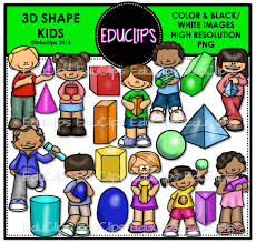 3d shape kids clip art bundle color and b u0026w welcome to