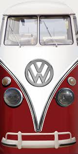 volkswagen bus front vintage vw bus red refrigerator wrap u2014 rm wraps