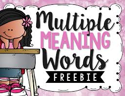 teaching multiple meaning words a free activity multiple
