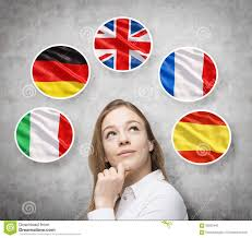 Coolest Country Flags Italian German Great Britain French Spanish Stock Photo