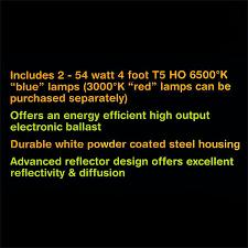 sun blaze 960296 fluorescent grow light fixture