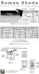 Cord Lock Roman Shade - a bit of help from our roman shade diagrams how to work with the