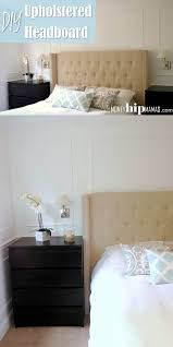 money hip mamas diy upholstered headboard with nailhead detailed arms