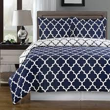 amazon com duvet cover set double full queen navy blue white 100