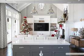 living room elegant christmas wreaths kitchen traditional with
