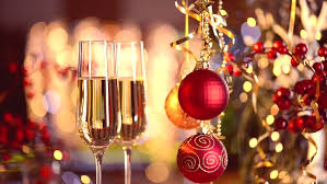new years chagne flutes new year and christmas celebration with chagne