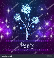 merry christmas party card invitation greeting stock illustration