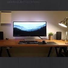 Dual Monitor Gaming Desk Detalles Del Escritorio Area De Trabajo Pinterest Computers