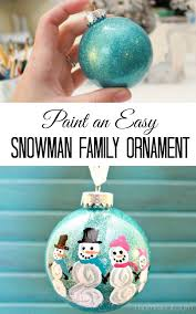 diy painted snowman family ornament 4 real