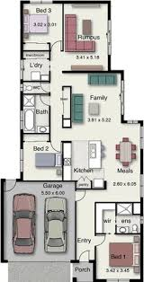 Narrow Block Floor Plans Floor Plan Highlander 329 Hotondo Homes House Design