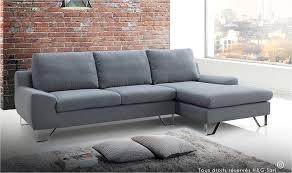 canapé tendance canape design en tissu gris tendance et pas cher kent