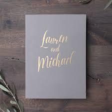 Guest Book Photo Album Wedding Guest Book Bridal Shower Album Gray With Gold Foil