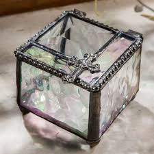 baptism jewelry box decorative cross box religious home decor christian gift