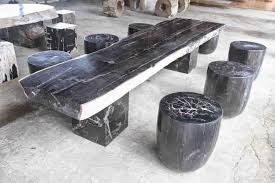 petrified wood dining table rustic dining table indogemstone