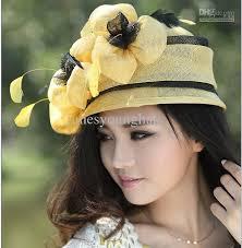 2017 women dress winter hair accessories wome sinamay church hat