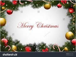 christmas card pine garland frame stock vector 86421058 shutterstock