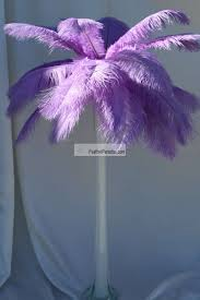 ostrich feather centerpiece light purple ostrich feather centerpieces 6 sets wholesale bulk