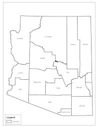 Arizona Counties Map by Counties Arizona Counties Arizona State Land Department