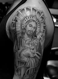 de 25 bedste idéer inden for religious tattoo sleeves på
