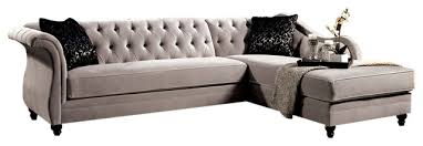 rotterdam french style sectional and chaise warm gray