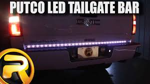 how to install putco pure led tailgate light bar youtube