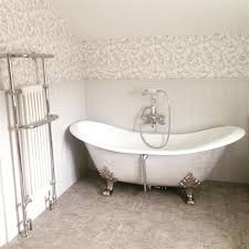 farrow and bathroom ideas bath and wooden cladding painted in ammonite no 274 by farrow and