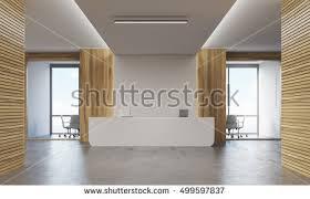 Registration Desk Design Office Lobby Reception Desk Meeting Room Stock Illustration