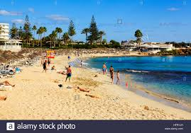 tourists on nissi beach ayia napa cyprus stock photo royalty