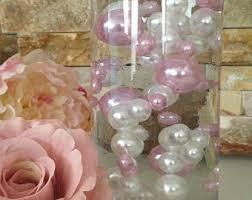 Pink Vase Fillers 80pc Decorative Pearl Fillers 2 Color Vase Filler Floating