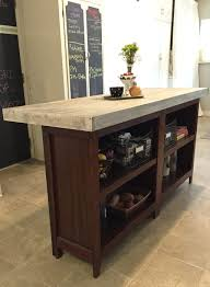 kitchen rectangular long diy kitchen island with open racks on