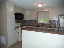 Crown Moulding Kitchen Cabinets by Kraftmaid Mushroom Cabinets And Large Crown Molding Laminate
