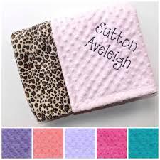 Cheetah Print Blanket Monogrammed Minky Baby Blanket Leopard Cheetah Print Minky And
