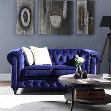 Purple Velvet Chesterfield Sofa by Amazon Com Classic Scroll Arm Chesterfield Style Navy Blue