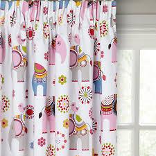 Elephant Curtains Uk Buy Little Home At John Lewis Abbey Elephant Pencil Pleat Blackout