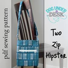 pattern for tote bag with zipper two zip hipster pdf sewing pattern