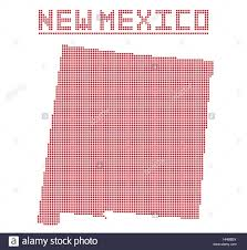 State Map Of New Mexico by A Dot Map Of New Mexico State Isolated On A White Background Stock