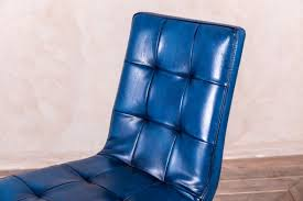 Blue Leather Chair Slim Dining Chairs Buffalo Leather Seating More Colours