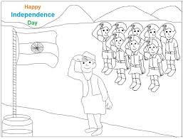 Coloring Pages Of Independence Day Of India   national flag coloring printable page for kids